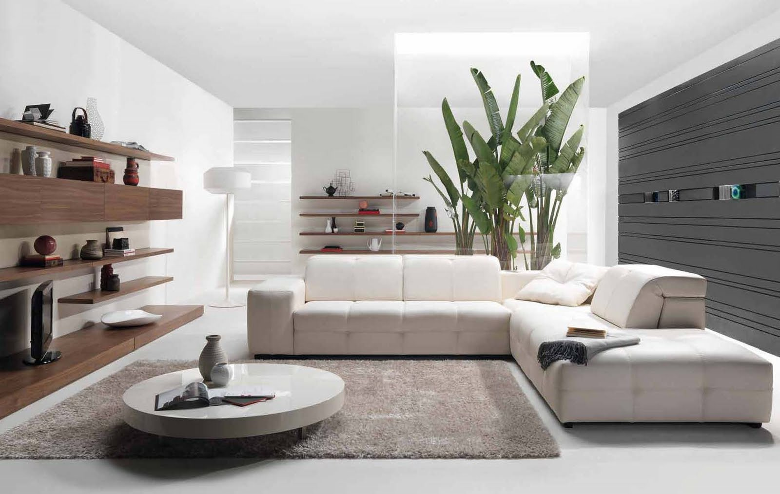 mesmerizing-marble-round-coffee-table-with-wooden-mounted-entertainment-center-plus-shelf-and-white-sectional-sofa-in-living-room-decoration-ideas-also-gla